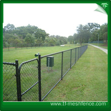 PVC coated black fence panel