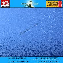 3-8mm blaues Nashiji gemustertes Glas mit AS / NZS2208: 1996