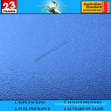 3-8mm Blue Nashiji Patterned Glass with AS/NZS2208: 1996