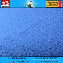 Vidro estampado Blue Nashiji de 3-8mm com AS / NZS2208: 1996