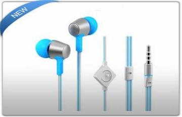 Handfree Metal Flat Cable in Ear Earphone with Mic for Ipho