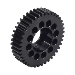 black hardened steel spur gear for mototycles