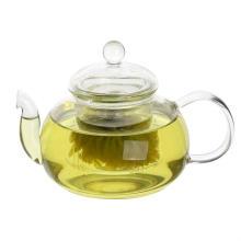 Infusible en acier inoxydable à la teapote en verre à la main fantaisie