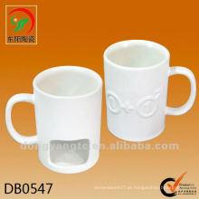 Caneca cerâmica personalizada com suporte de biscoito, biscoito de cerâmica canecas de café