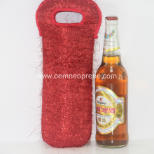 Red Portable Insulated Neoprene Wine Coolers