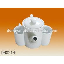 Customize logo ceramic tea pot , modern teapot set,teapot cup