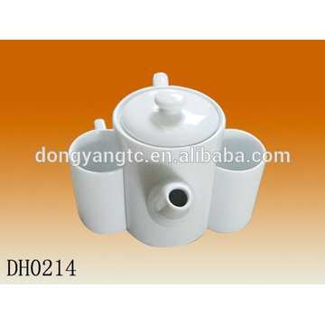 Customize logo ceramic tea pot , modern teapot set,teapot cup