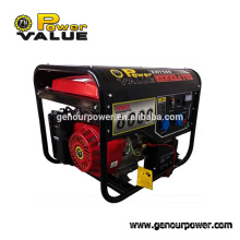 Genour Power 190F 6kw/kva Gasoline/petrol engine 15hp recoil&electric start with handle and wheel air 100% copper