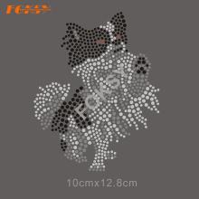 Kundengebundener kühler T-Shirt Wärmeübertragung-Hund Rhinestone