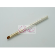 Cepillo anguloso blanco del eyeliner del pelo de nylon de la manija (QB-ES323)