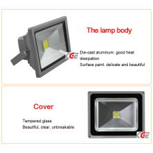 High Lumen Bridgelux IP65 Outdoor 50W LED Solar Flood Light Fixture