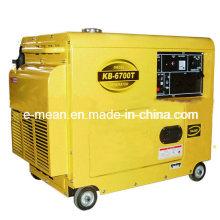 Novo Gerador Diesel Preto 5kw com Quatro Rodas