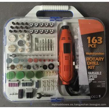 163pcs 135W Accesorio portátil de la amoladora de la manía con el eje de la flexión Handheld El mini kit de herramientas rotatorio eléctrico