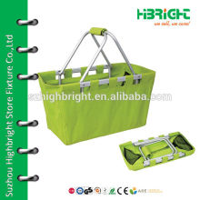 waterproof foldable fabric basket for shopping
