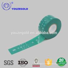 Ruban de tuyau de PVC de ceinture verte d'isolation