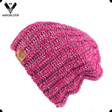 Women′s Acrylic Iceland Yarn Knitting Hat with Lurex Yarn