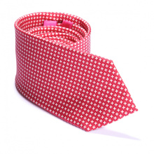 Cravates d'impression personnalisées de marque de qualité supérieure de Houndstooth de Bourgogne de soie