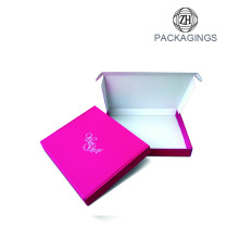 Rose red apparel mailer box