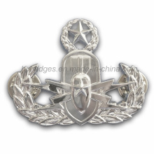 Custom Irregular Silver Plated Police Badge (GZHY-BADGE-015)