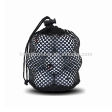 Kleine maßgeschneiderte billige Kordelzug Netztasche für Golfball
