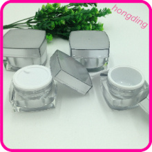 wholesale acrylic cream jar silver color 5g 10g 15g 30g 50g small plastic silver container