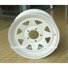 Utility trailer wheel rims with different surface 15X5,15X6