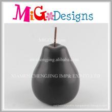 Low Price Wholesales Elegant Black Pear Ceramic Decoration