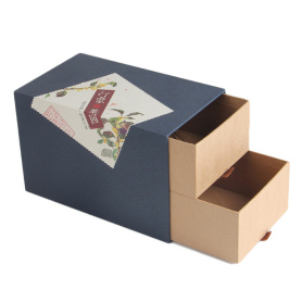 Kustom Dua Drawer Gift Paper Packaging Box