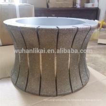 rueda de piedra de corte de diamante muela de mármol rueda de perfil de 300mm