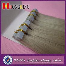 Extensões de cabelo de loira cacheada fita Ash