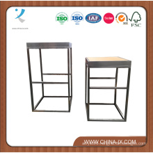 Wooden and Stainless Steel Display Table