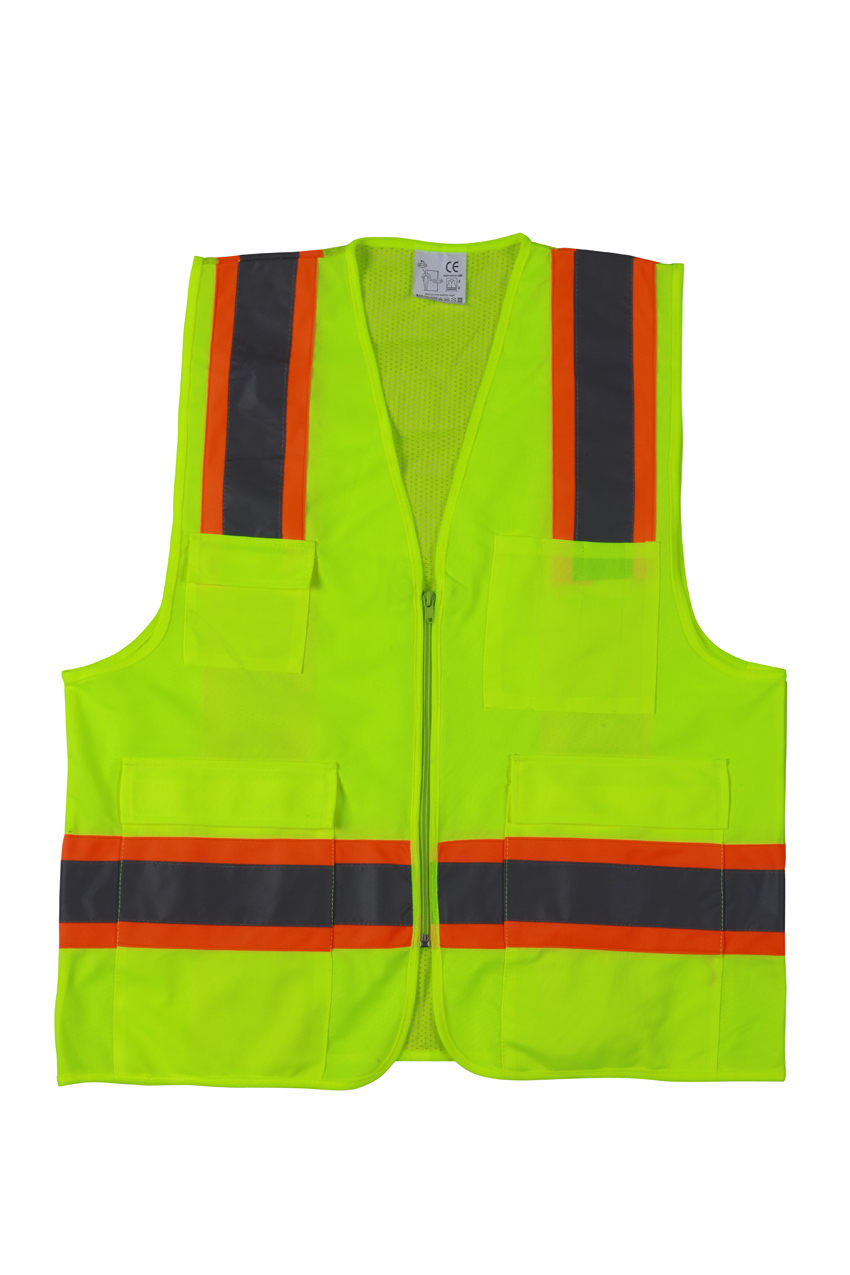 safety Vest with Pockets Breathable Mesh TC tape