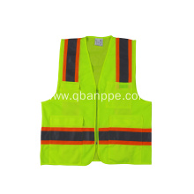 safety Vest with Pockets Zipper Breathable Mesh