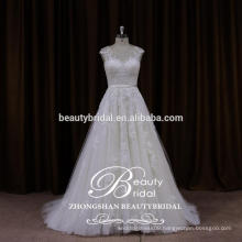 2017 new summer strapped wedding dress from china custom made wedding dress ZSS001
