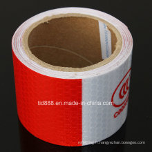 3m blanc/rouge réfléchissant sécurité AVERTISSEMENT perceptibilité Tape avec Label de Production