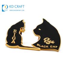 Manufacturer No Minimum Custom Transparent Glitter Cartoon Cat Rose Gold Metal Lapel Pin Badge Soft Enamel Wholesale Rainbow Sliding Hard Enamel Pin