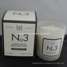 No. 3 velas perfumadas naturales de jazmín y lavanda