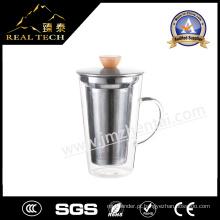 Copo de café de vidro 400ml Café Design Copo de vidro Latte Café Latte Vidro Copo de bom preço de vidro