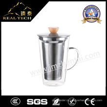 Стеклянная чашка кофе 400 мл Кофе-дизайн Стеклянная чашка Latte Cafe Latte Glass Хорошая цена Glass Cup