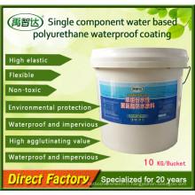 Revêtement imperméable de polyuréthane de composant simple de polymère élevé