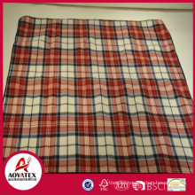 Rolling package check pattern polar fleece picnic blanket