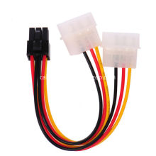 IDE Molex to 6 Pin PCI Power Adapter Cable