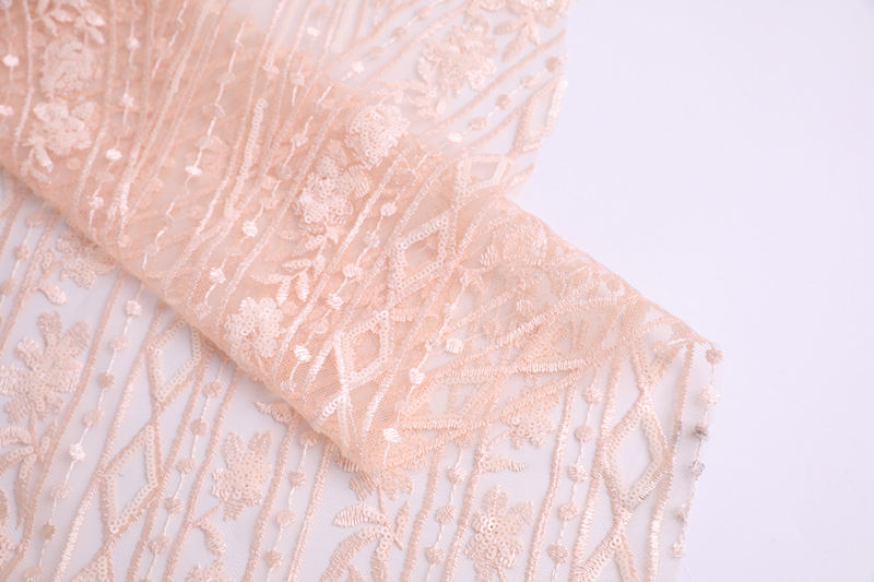 Tulle Sequin Embroidery Fabric