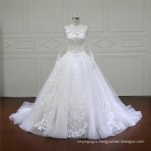 Long Train Puffy A-Line Wedding Gowns (XF16015)