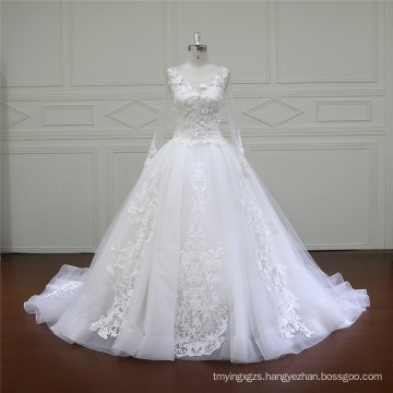 Long Train Puffy A-Line Wedding Gowns (XF16015)