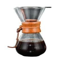 Bule de café de vidro de borosilicato Despeje sobre cafeteira