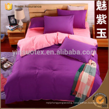 100% pure cotton satin bedding set king queen full twin size duvet cover set stripe plain solid bedclothes