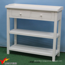Solid Painted French Wood Console Table White