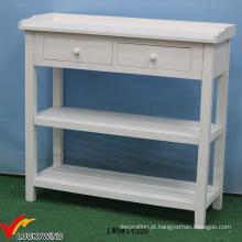 Mesa de console de madeira francesa pintada sólida