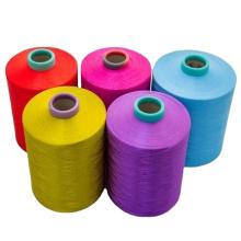 dope dyed black polyester yarn 150 48 texture polyester yarn SD NIM for yarns knitting